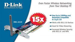 DWL-G520 PCI wireless kartica
